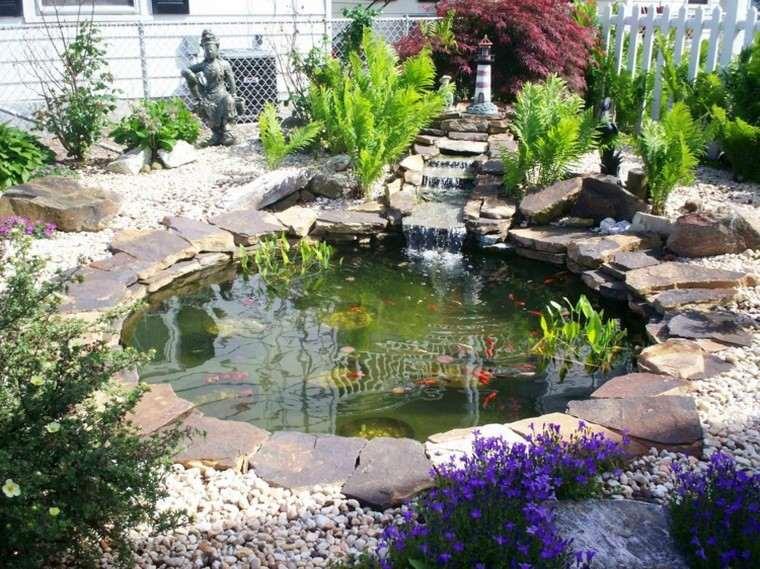 estanques jardin opciones aire libre forma redonda ideas
