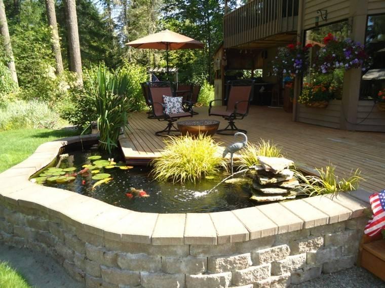 estanques jardin opciones aire libre muros piedra elementos