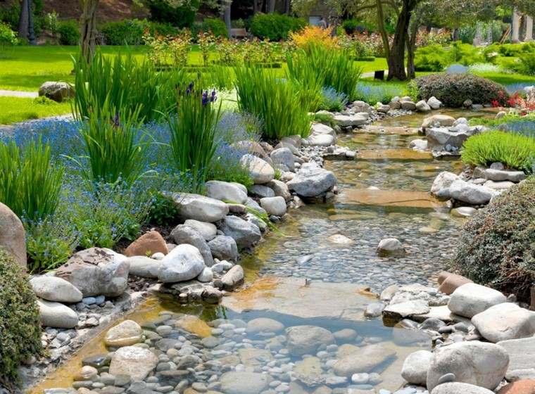 estanques jardin opciones aire libre piedras plantas ideas