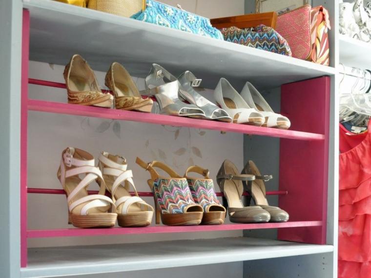 estante mueble zapatos tacon