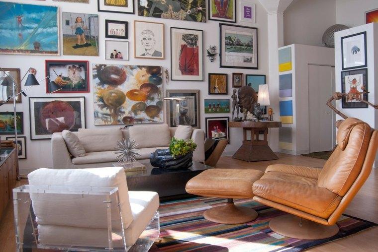 estupenda decoración paredes salon