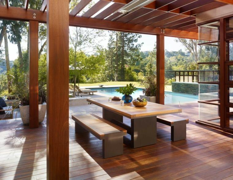 Porches de madera y cubiertas para jardines - 12 diseños -
