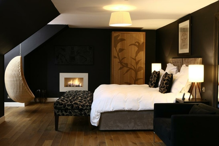 Color negro en el dormitorio ideas fant sticas de for Decoracion hogar 2017
