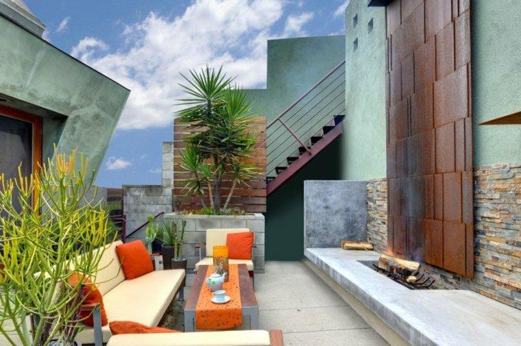 estupenda terraza estilo moderno
