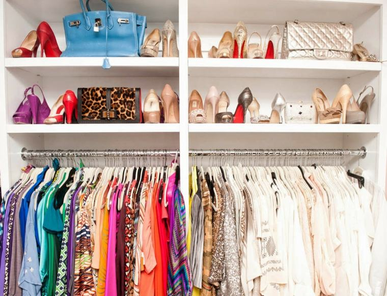 estupendo armario zapatos tacon estantes