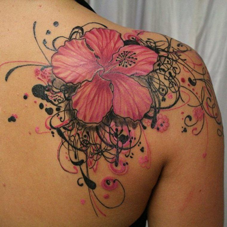 estupendo tatuaje flor vrande