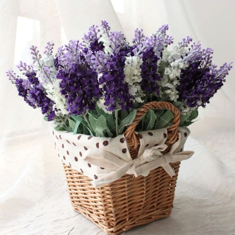 flores macetas cestos decorar casa moderna ideas
