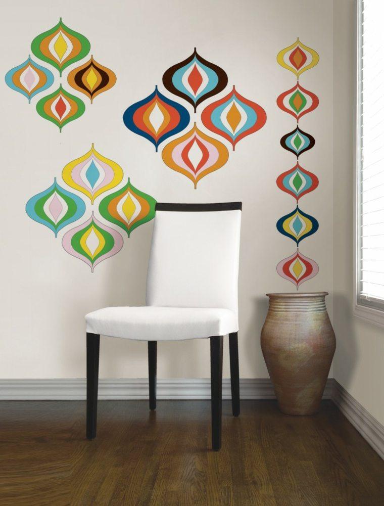formas colores sillas muestras claros