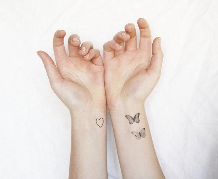 fotos tatuajes disenos mariposas corazon ideas
