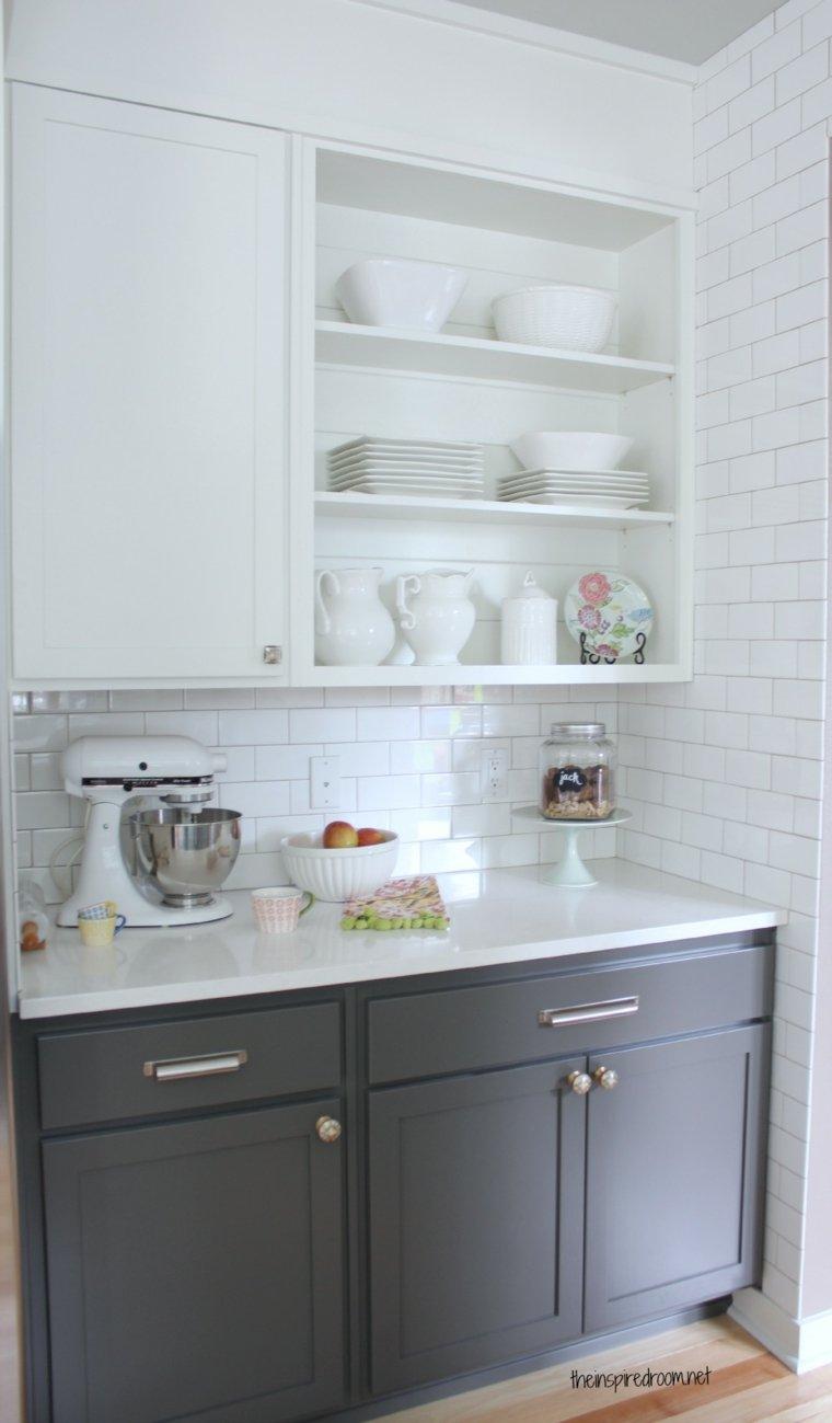 Cocina blanca 42 dise os de cocinas que te encantar n for Colores para gabinetes de cocina