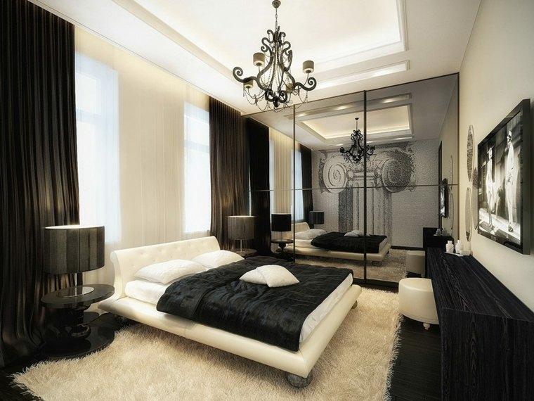 habitacion lujosa deco negro