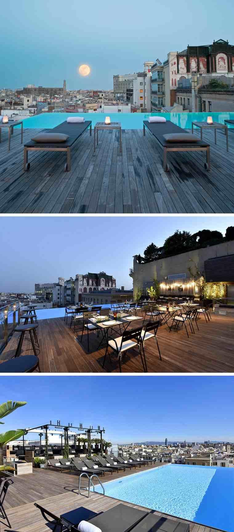 hoteles romanticos terrazas Grand Hotel Central Barcelona ideas