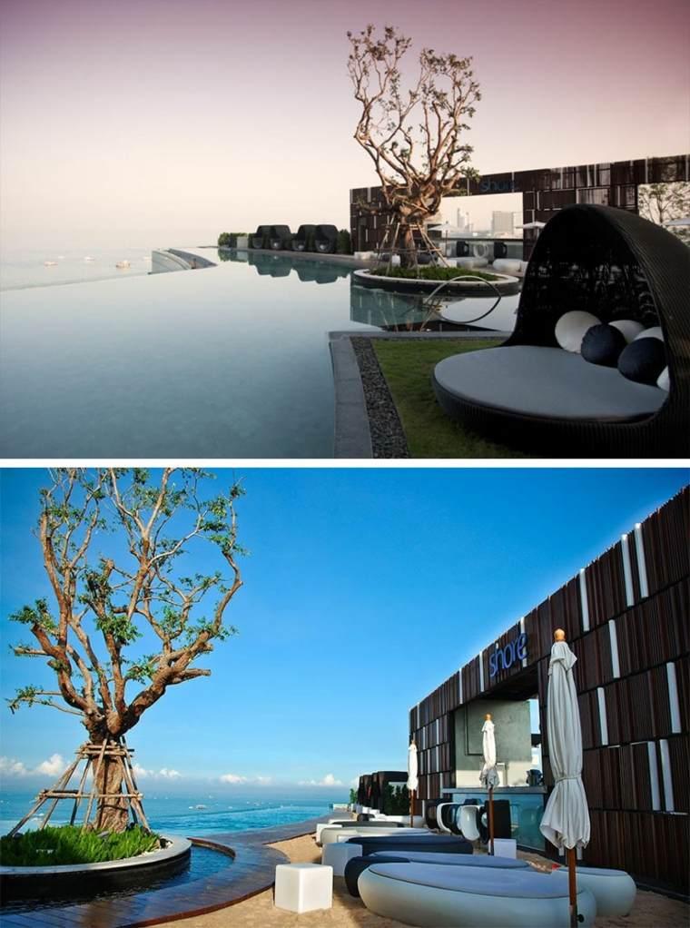 hoteles romanticos terrazas Hilton Hotel Pattaya Tailandia ideas