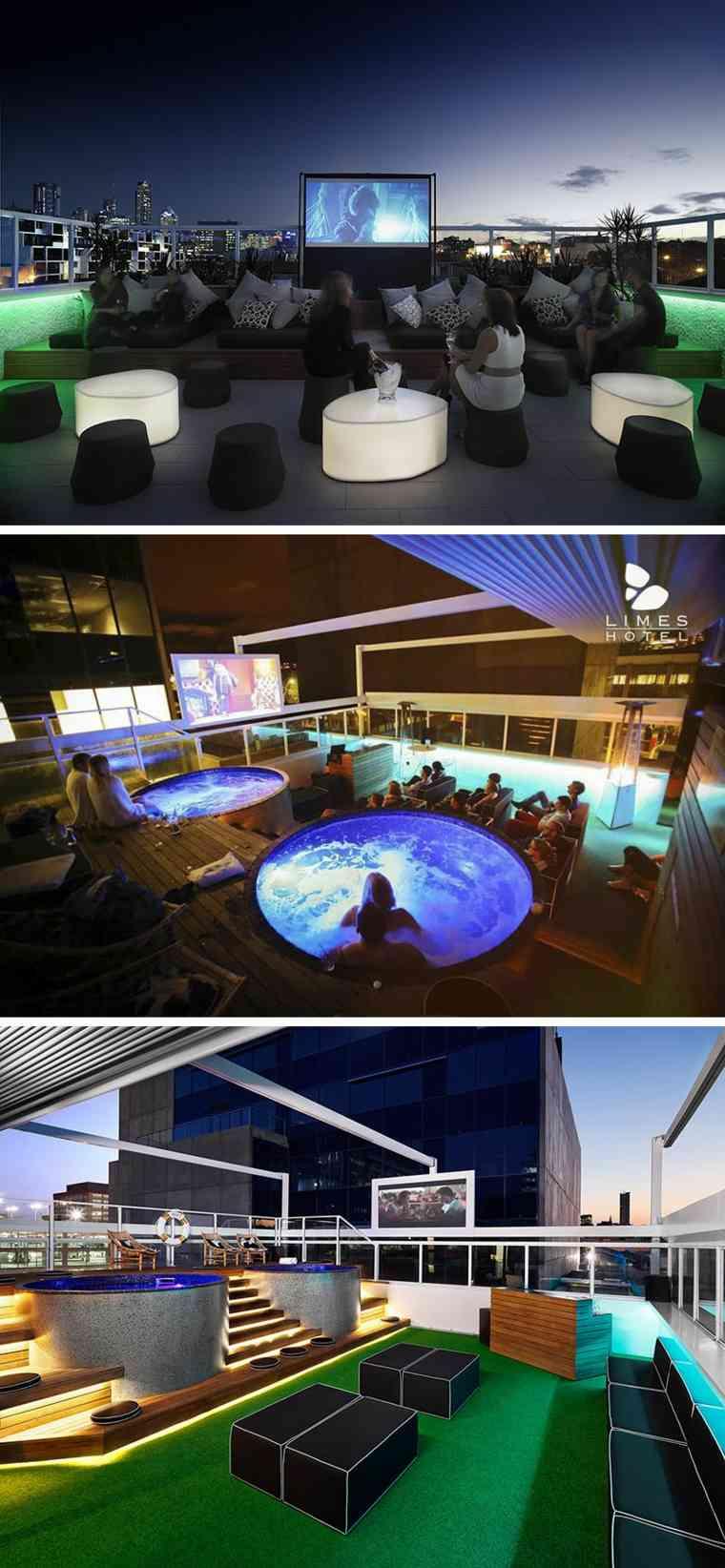 hoteles romanticos terrazas Limes Hotel Australia diseno ideas