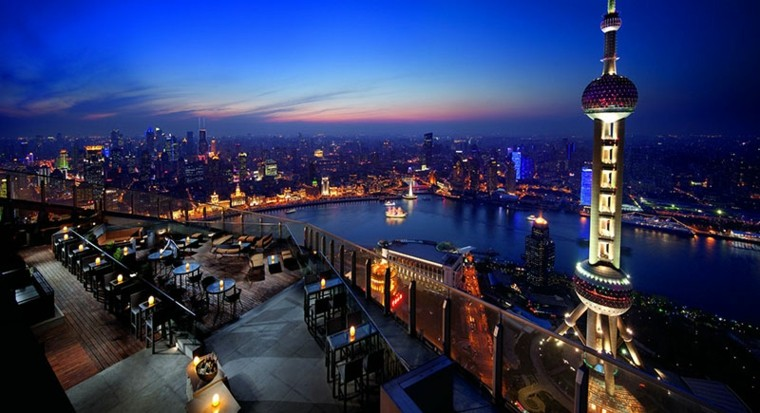 hoteles romanticos terrazas Ritz Carlton Shanghai ideas
