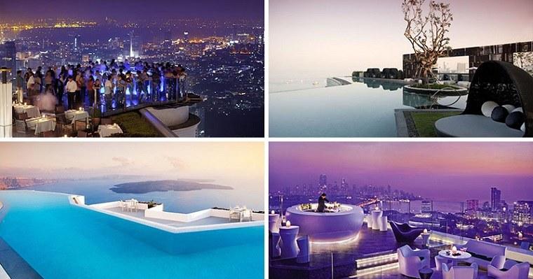 hoteles terrazas lujo opciones diseno maravilloso ideas