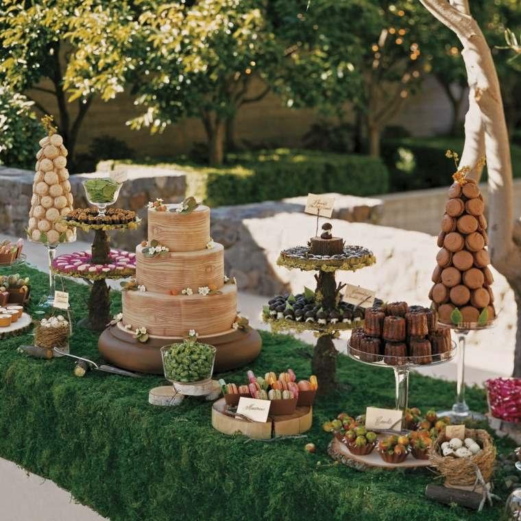 ideas para cumpleanos decoracion dulces invitados mesa moderno