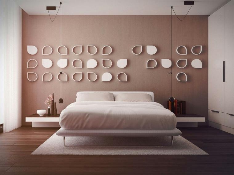 ideas de decoracion de paredes naturales contrastes habitaciones