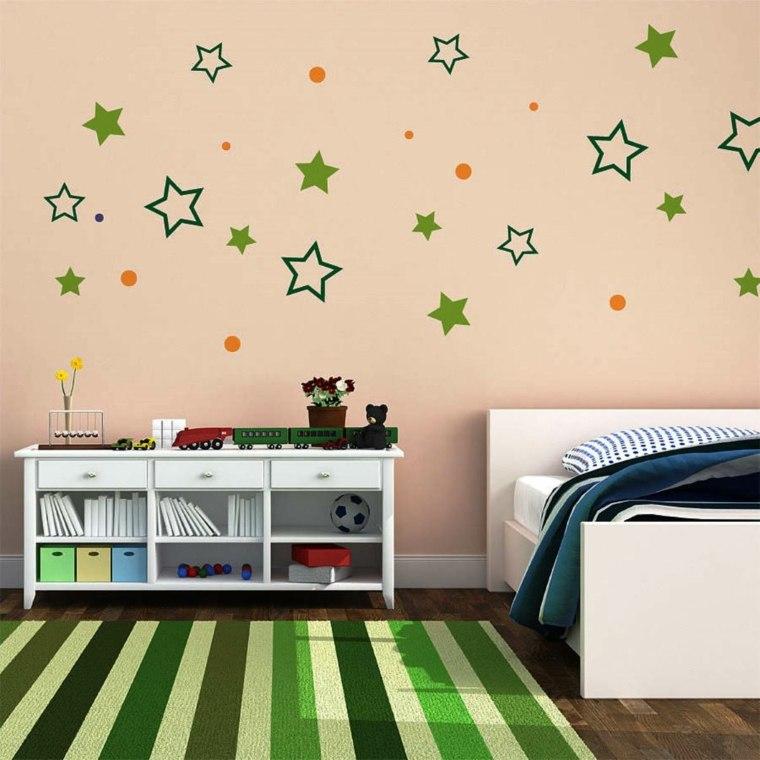 ideas de decoracion de paredes verdes alfombras lineas