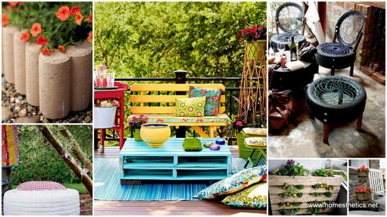 ideas originales crear muebles jardin