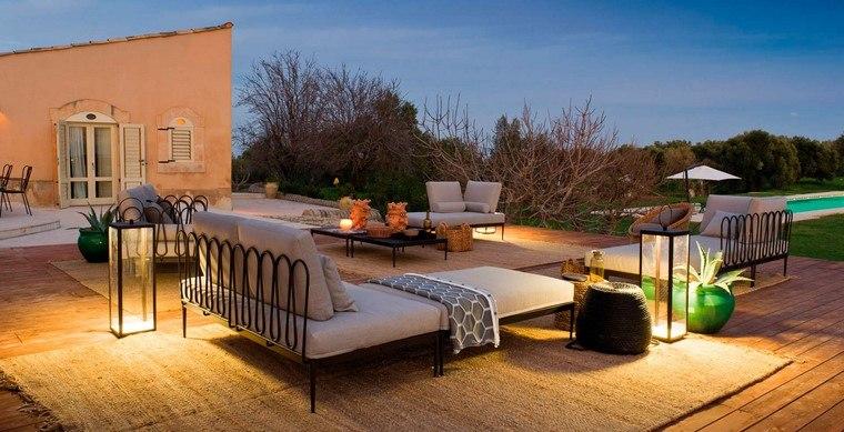 ideas terraza opciones originales iluminar aire libre sofa preciosa