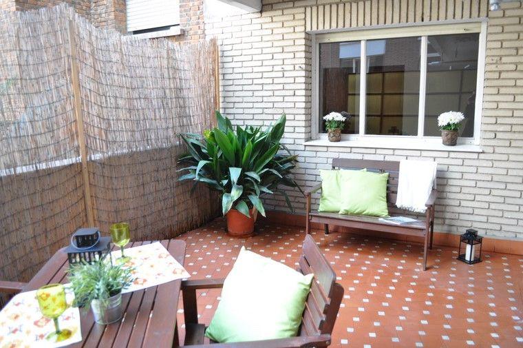 ideas terrazas diseno muebles madera banco moderna
