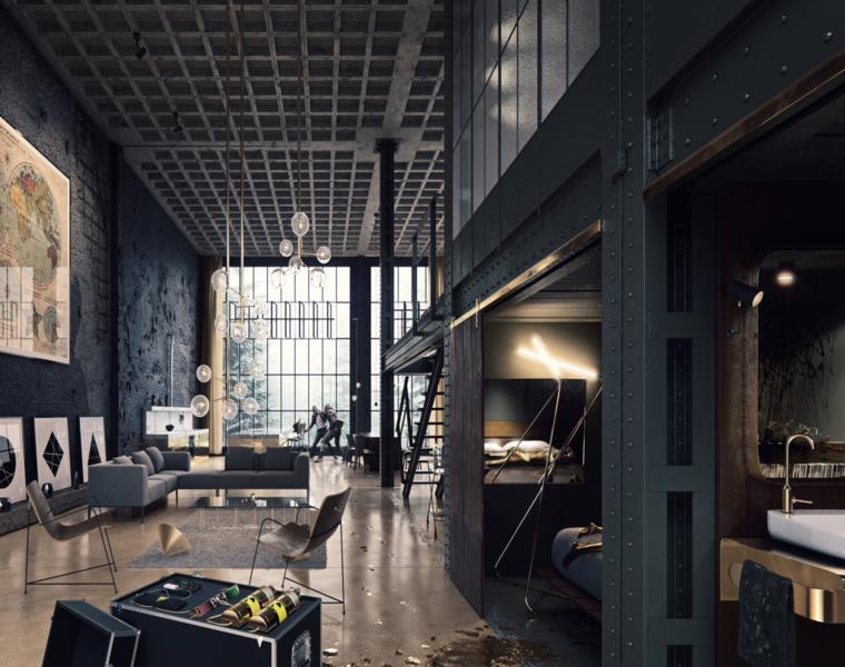 interior moderno diseño Martin Loureiro Prego