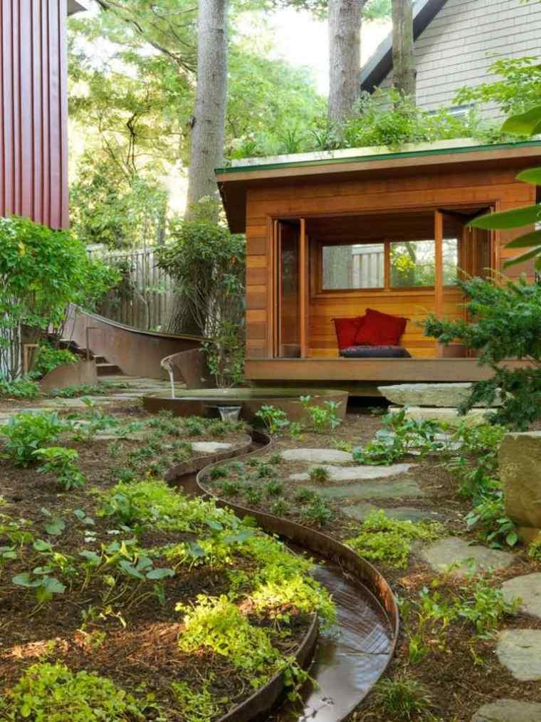 Acero corten en patios y jardines modernos 34 ideas for Patios y jardines modernos
