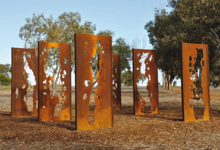 jardin paneles decorando espacio aire libre ideas