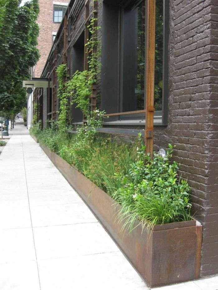 Acero corten decoracion para exteriores en 42 ideas geniales - Jardineras acero corten ...