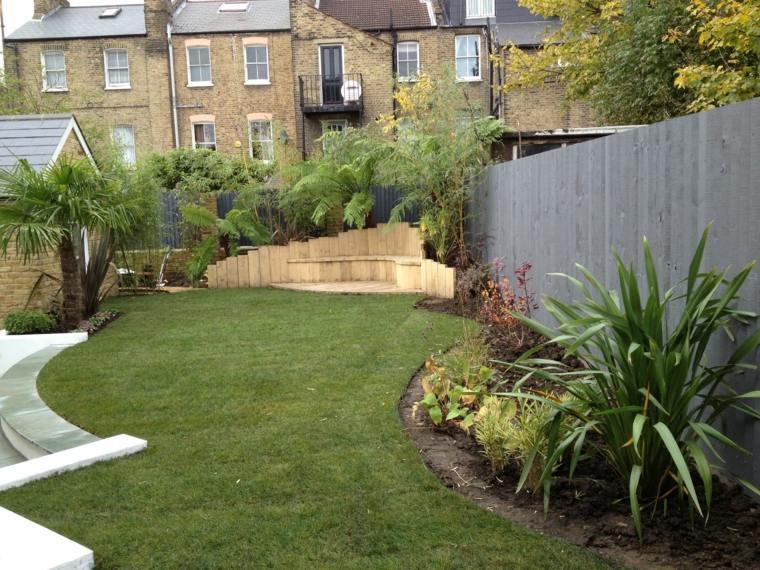 jardineria diseno de jardin urbano bajo mantenimiento ideas