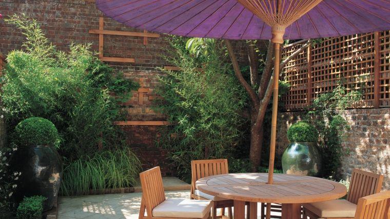 jardineria diseno de jardin urbano muebles jardin madera plantas ideas