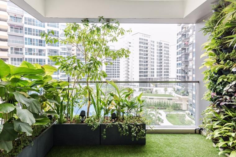 jardineria diseno jardin urbano terraza ideas