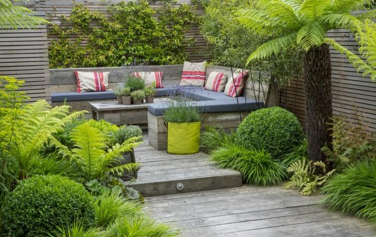 jardineria diseno de jardin urbano pequeno original ideas