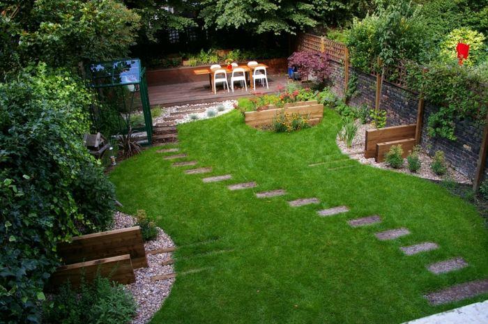 jardines ideas creativas con piezas de madera