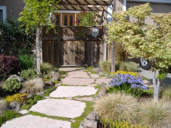 jardines ideas creativas entradas principales espacios