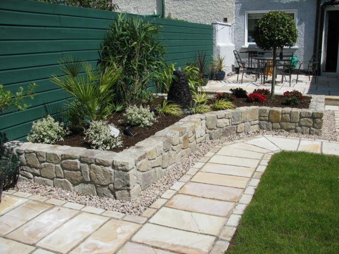 jardines ideas creativas mantillo efectos muro