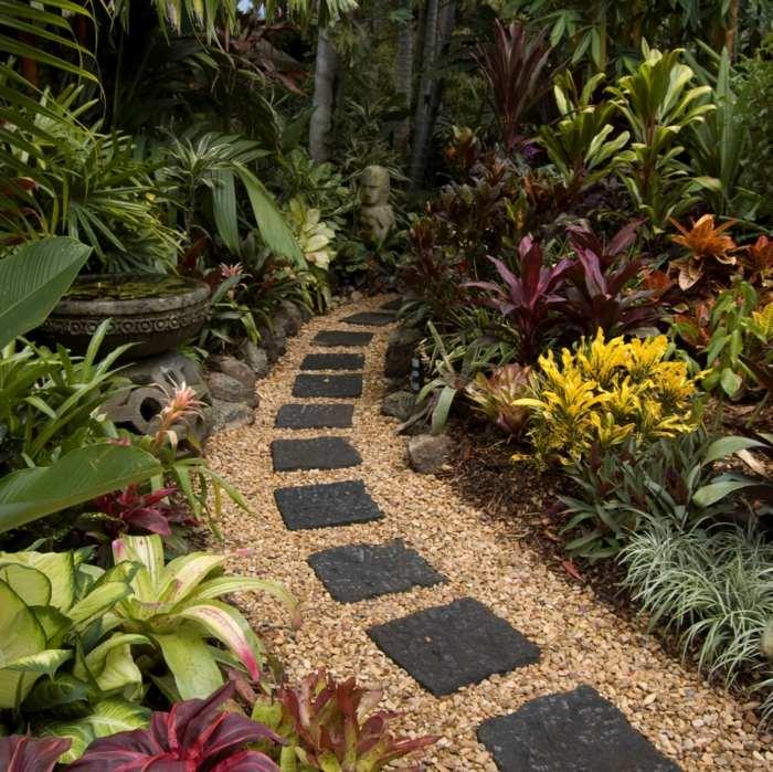 jardines ideas creativas plantas exoticas gravas
