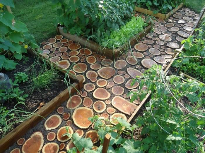 jardines ideas creativas troncos huertos hierbas