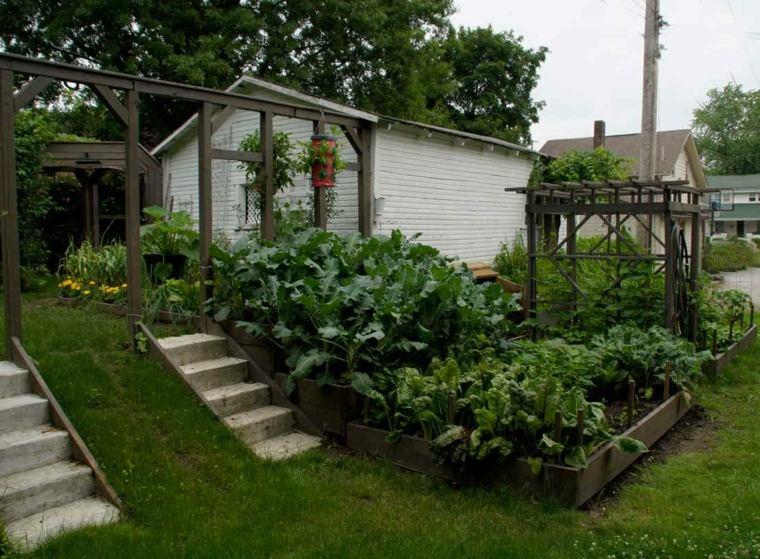 jardin huerto varias alturas