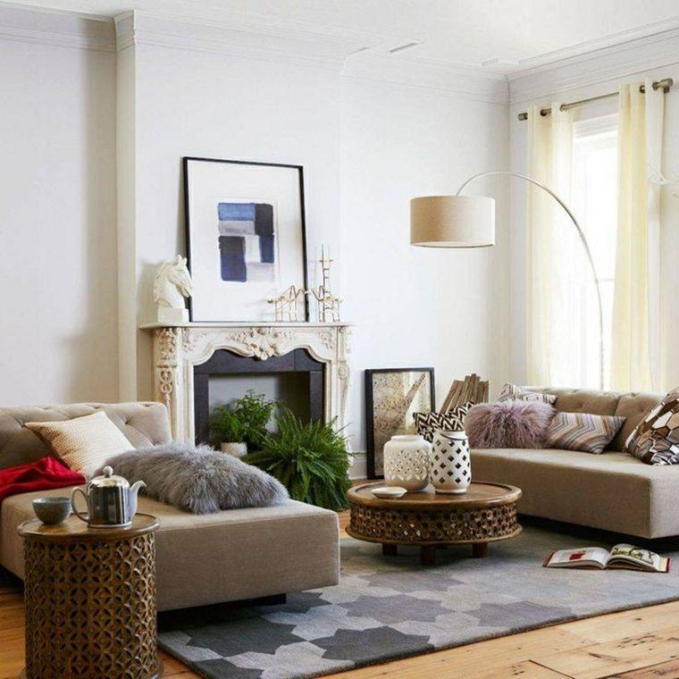 jarrones especiales muebles colores cortinas