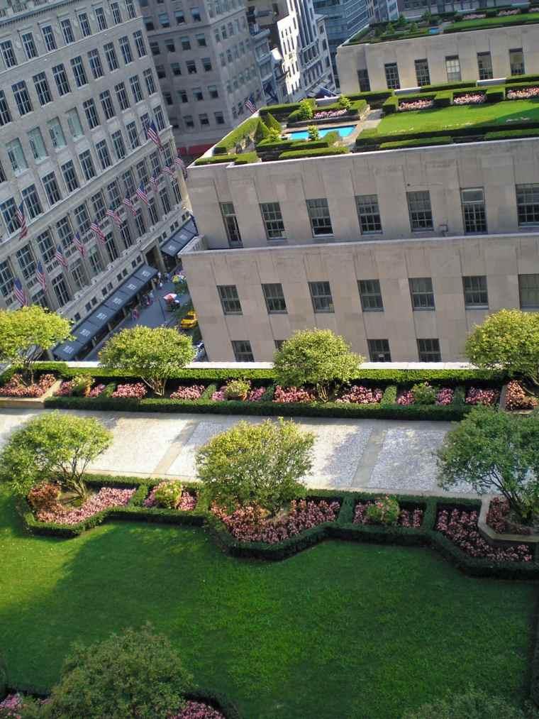 la azotea cubierta cesped plantas jardin original ideas