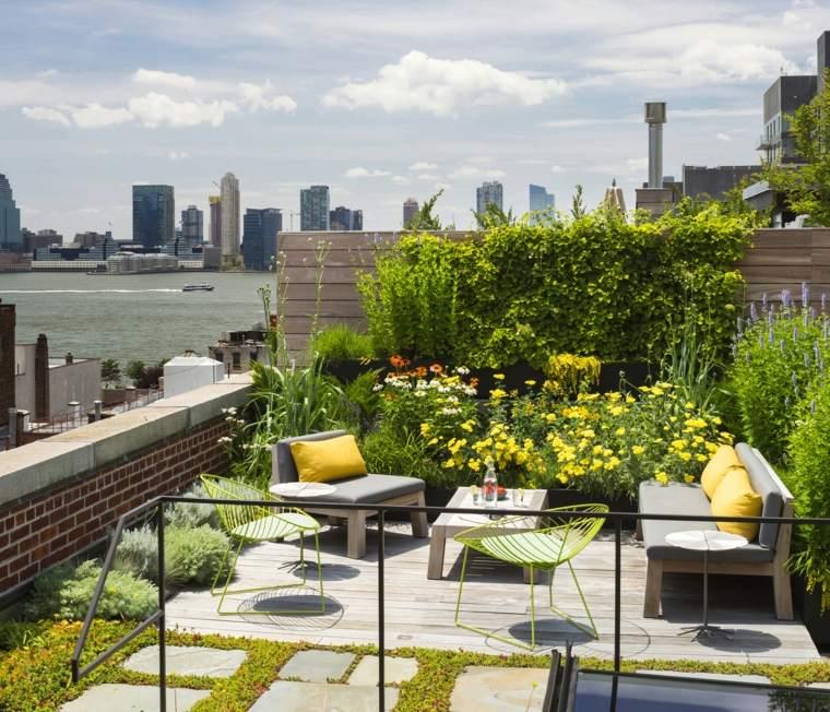 Andrew Franz Architects la azotea cubierta cesped plantas loft jardin ideas