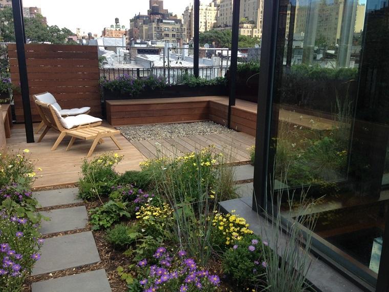 la azotea cubierta plantas flores jardin pequeno ideas