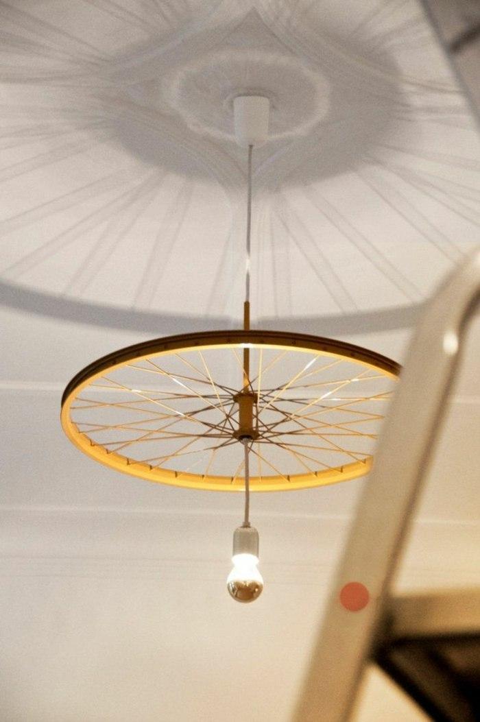 La bicicleta y el reciclaje 31 ideas de llantas para decorar - Lamparas de techo hechas en casa ...