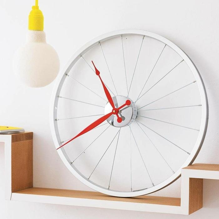 la bicicleta vieja llanta convertida reloj ideas