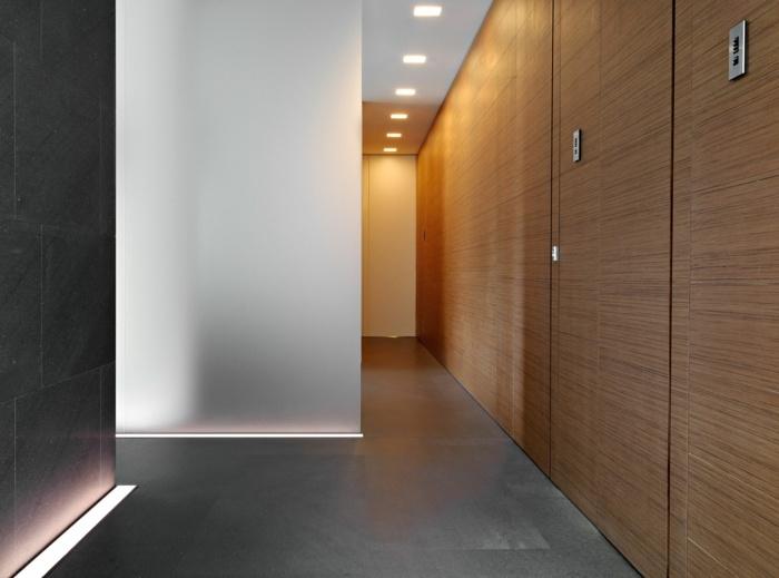 la madera grises efectos materiales led