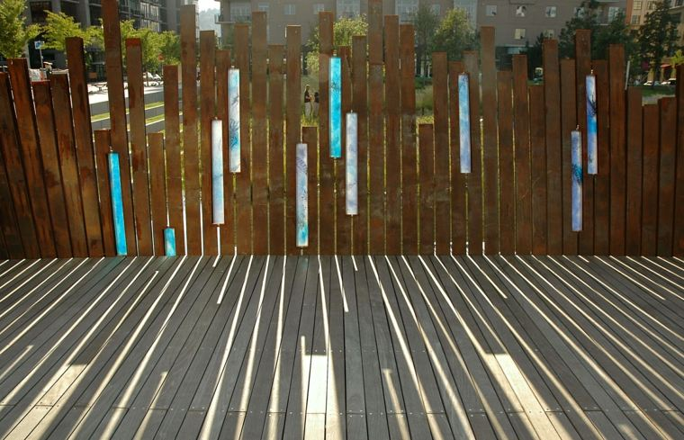 laminas acero corten distinta altura jardin ideas