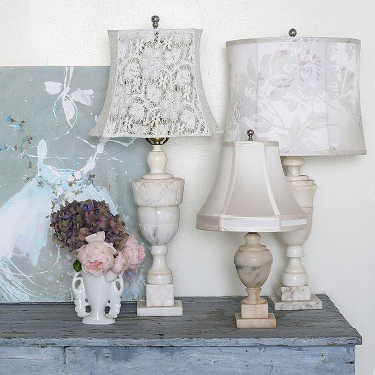 lámparas blancas tipo vintage