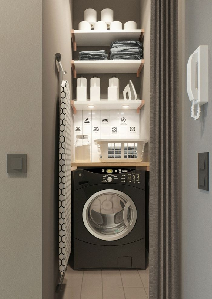 lavado habitacion efectos conceptos armario